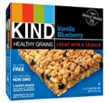 KIND Healthy Grains Granola Bars, Vanilla Blueberry, 1.2 Ounce, 5 Count (Pack of 3)