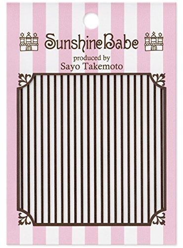 SunshineBabe ネイルシール ストライプ グレー 1mm