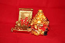 Lilone Gifts Feng Shui Mobile Stand Happy Man Laughing Buddha | Home Decor Corporate Birthday Anniversary Gift
