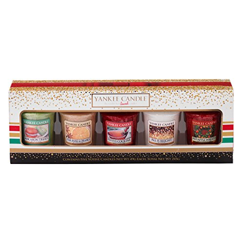 Yankee Candle Christmas 2016 Five Votive Candle Gift Set