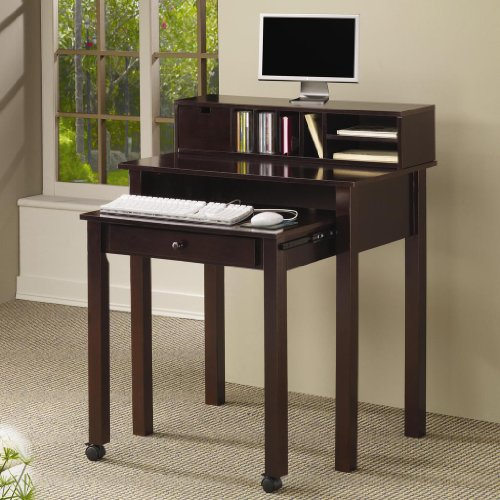 Buy Low Price Comfortable COMPUTER DESK/CAPPUCCINO 31-1/2×19-30×38-1/2H (B004ZP7H2A)
