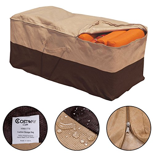 New Outdoor Cushion Storage Bag Patio Furniture Chaise Organizer Protector Cover (Clear Garment Bags 16x25 compare prices)