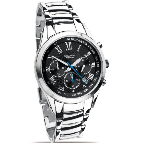 Sekonda Mens Chronograph Stainless Steel Bracelet Watch 3888