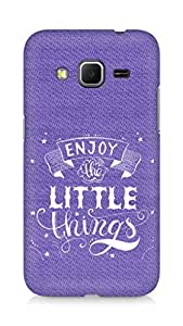 AMEZ enjoy the little things 2 Back Cover For Samsung Galaxy Core Prime