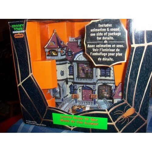 Lemax Halloween Spooky Town Village Lighted House of Wax 35784AA with