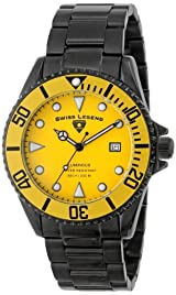 Men's Luminous Yellow Dial Black IP Stainless Steel