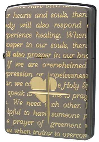 ZIPPO (Zippo) oil lighter NO200 lovers / Cross-message ALL black x Gold 63030198