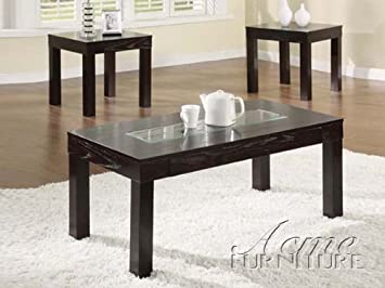 3-pc Pack Denhem Style Coffee Table Set in Espresso Finish Acs106225
