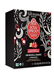 Two Moms in the Raw Soul Sprout Gluten Free Granola Bars, Gojiberry Triple Yum-Yum 6 Oz (Pack of 6)
