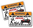 Polaris Razor RED RZR 900 XP UTV 4x4 Off Road Warning Sticker