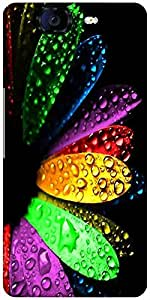 Snoogg Colorful Flowers And Water Droplets Designer Protective Back Case Cover For Micromax Canvas Knight A350