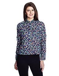 Chemistry Women's Button Down Shirt (C16-672WTSHT_Navy_X-Large)