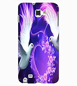 ColourCraft Lovely Pigeons Design Back Case Cover for SAMSUNG GALAXY NOTE 1
