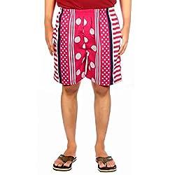 Aaduki Men's Cotton Shorts_Pink_XXL