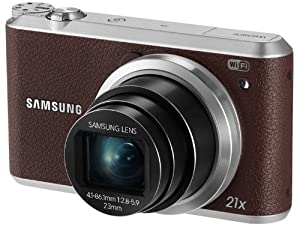 "Samsung WB350F 16.3MP CMOS Smart WiFi & NFC Digital Camera with 21x Optical Zoom, 3.0"" Touch Screen LCD and 1080p HD Video (Brown) (Discontinued by Manufacturer)"
