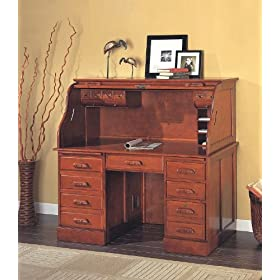 Cherry Rolltop Desk