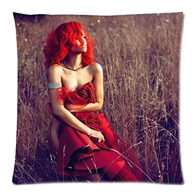 Generic Rihanna New Pillow Case Sofa Pillowcase Cover Home Decoration 18x18(Two sides)