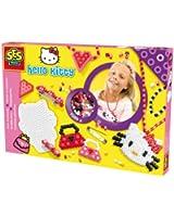 Ses - 14756 - Loisir Créatif - Perles à Repasser Hello Kitty - Création de Bijoux - 1500 Perles