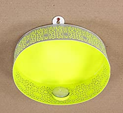 Home and Bazaar Traditional Metal Ovel Shape Wall Tea Light Candle Holder 7 Inch / 17.5 Cm