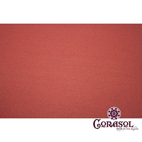 Corasol COR11RA36-RR - Vela de sombra para patio (resistente al agua), color rojo, 3,6 x 3,6 x 5 m