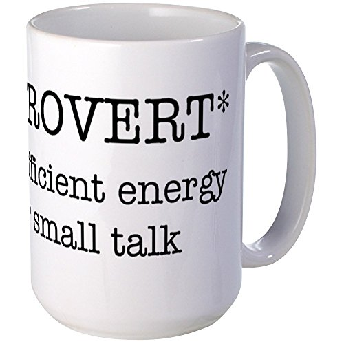 CafePress - INTROVERT Insufficient Energy - Coffee Mug, Large 15 oz. White Coffee Cup