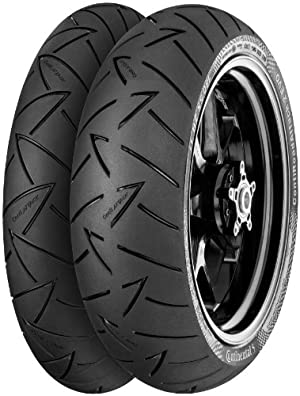 Continental Conti Road Attack 2 EVO Hyper Sport Touring Tire – Front – 110/80R-19 , Position: Front, Rim Size: 19, Tire Application: Touring, Tire Size: 110/80-19, Tire Type: Street, Load Rating: 59, Speed Rating: V, Tire Construction: Radial 02443660000