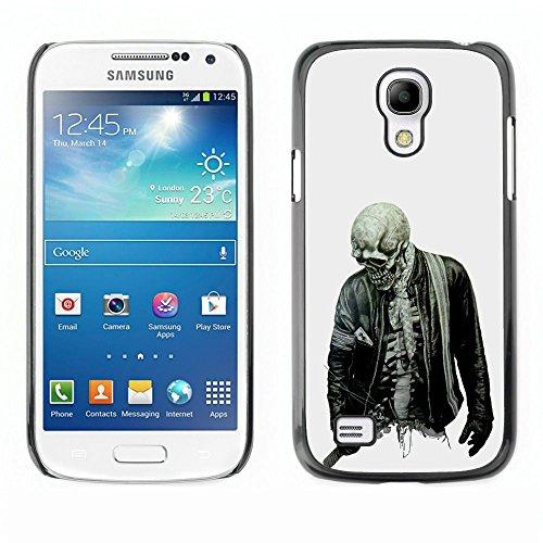 For Samsung Galaxy S4 Mini (NOT for regular S4) Case , Biker Cool Skull Skeleton Zombie Roccia - Design Pattern Duro Staccabile Stile Telefono Cellulare Nuovo Caso Cover Guscio Duro