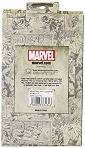 Marvel Comics Rectangular Luggage Tag with Zinc Alloy Badge - Official Licensed product