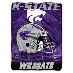Buy NCAA Kansas State Wildcats 60-Inch-by-80-Inch Micro Raschel Blanket, Overtime Design by Northwest