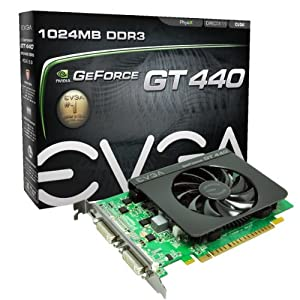 EVGA GeForce GT 440 1024 MB DDR3 PCI Express 2.0 2DVI/Mini-HDMI Graphics Card, 01G-P3-1441-KR