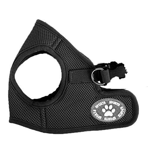 Comfy Dog Harness | Prime Grade Polyester Dog Harness for Long Lasting Usage, Pet Control, and Ultimate Comfort, Superb for All Dog Size (S;M;L), Vibrant Black and Blue (L, Black)
