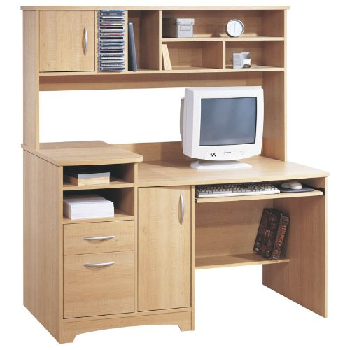 Contemporary Maple Home Office Computer Desk