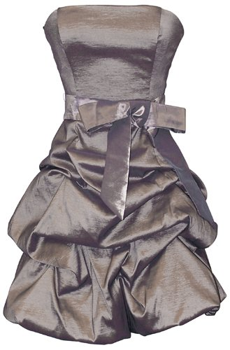 Strapless Taffeta Bubble Dress with Pull-Ups Formal Gown Prom Dress