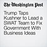 Trump Taps Kushner to Lead a SWAT Team to Fix Government With Business Ideas | Ashley Parker,Philip Rucker