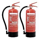 Feuerlöscher 2x 6kg ABC-Pulverlöscher mit Manometer EN 3 inkl. ANDRIS®