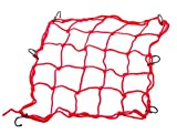 Red Motorcycle Parts Iron Mesh Bungee ATV Helmet Web Cargo Heavy-duty Packing Stretches Hooks Net For Honda VTR1000F FIRESTORM 1998 1999 2000 2001 2002 2003 2004 2005