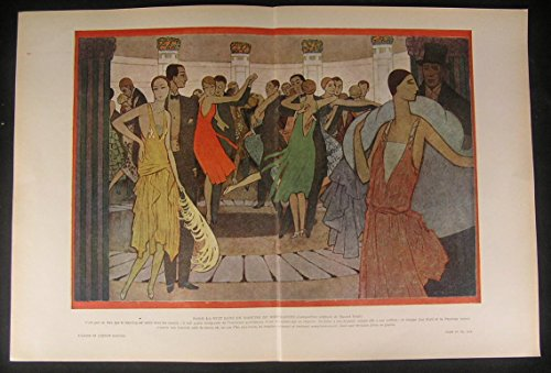 Evening Parisian Dance Party Art Deco Wealth 1929 vintage color erotic art print