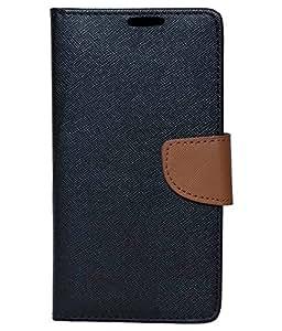 Mintzz Flip Cover For Sony Xperia M2 - Black Brown