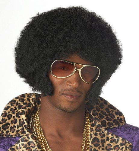 Afro Chops - Adult Accessory - Black