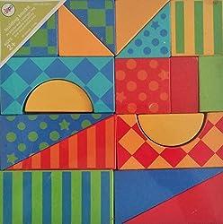 Circo - 36 Colorful Wood Building Blocks + storage bag