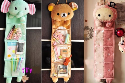 Buy Bargain Rilakkuma San-x Wall Hanging Storage Bag 3 Pockets 3 Designs (bear)