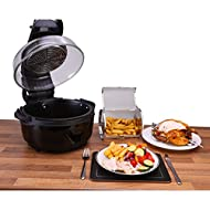 Ovation Rotisserie Halogen Oven Air Fryer Healthy Oil free Cooking 6.8L 1400W Black