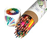 Best-Colored-Pencils-Kit--Premium-Water-Coloring-Set--48-Pre-Sharpened-Hexagonal-Pencil-Storage--Gift-Pack-Case--FREE-GIFT-included-in-Portable-Pencil-Box