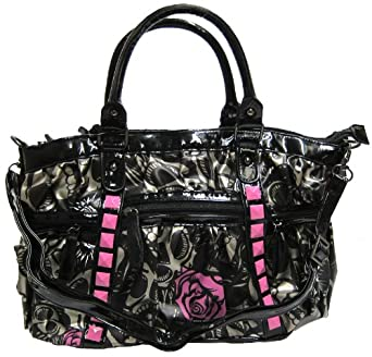 IRON FIST Muerte Punk Princess Handbag (Charcoal/Pink)