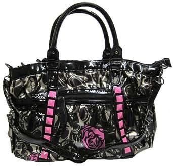 Iron Fist Black & Pink Muerte Punk Princess Vegan Handbag