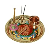 Brass Pooja Thali Diwali Decoration Diwali Gift Item Brass Pooja Item Home Decor Item Set Of 5