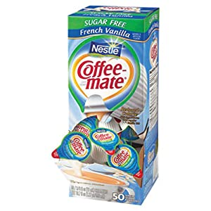 SCS Nestle Coffee-mate - Creamer Tubs, French Vanilla (Sugar Free) - 50 Count