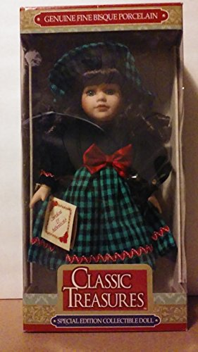 Classic Treasures Fine Bisque Porcelain Dark Hair Collectible Doll