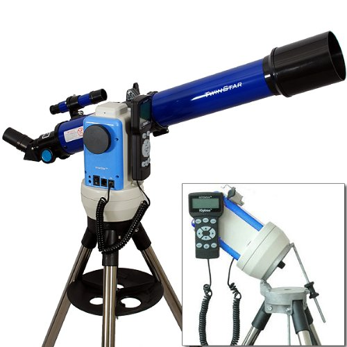 Twinstar Blue 70Mm Ioptron Computerized Gps Equatorial Refractor Telescope