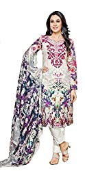 Lebaas Cotton Embroidered Salwar Suit Dupatta Material (Un-stitched)